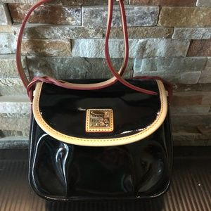 Dooney & Bourke Black Patent Leather Crossbody